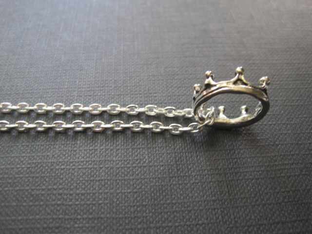 Antique Silver Crown Necklace - product images  of