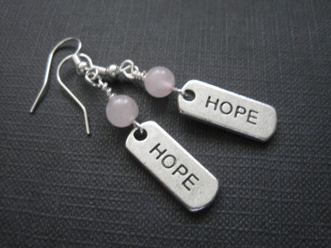 Rose,Quartz,Hope,Dangle,Earrings,Rose Quartz Hope Dangle Earrings, pink quartz, hope jewelry, positive energy, handmade jewelry, crystal quartz jewelry, handmade earrings, affirmation jewelry, message jewelry