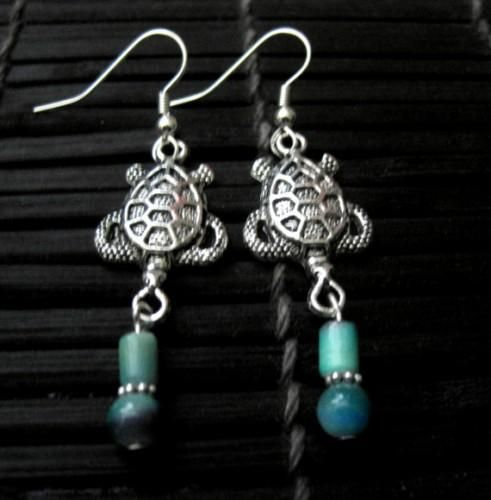 Sea Turtle Sea Life Dangle Earrings - product images  of