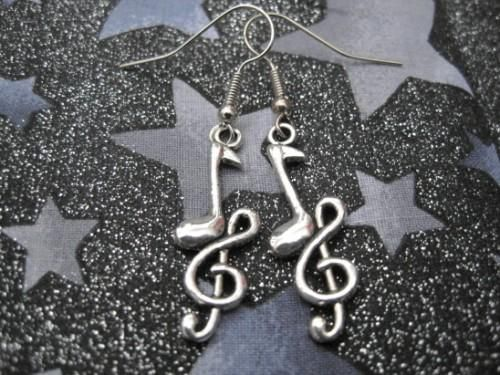 Music Note Rock Earrings - product images  of