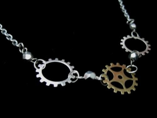 Steampunk Gears Industrial Necklace - product images  of