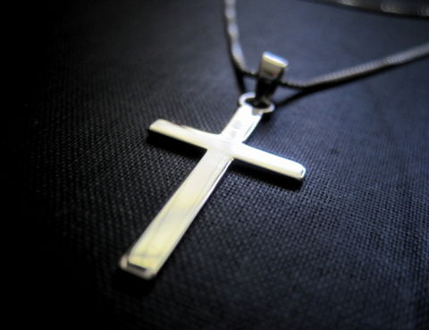 Sterling,Silver,Cross,Necklace,Sterling Silver, Cross Necklace, silver cross, necklace, vamps jewelry, religious, handmade jewelry