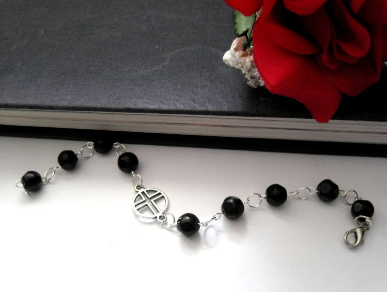 Black Mourning Cross Bracelet - product images  of