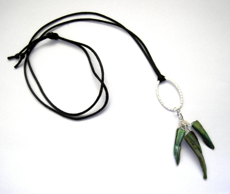 Mother of Pearl Shell Tribal Cord Necklace - product images  of