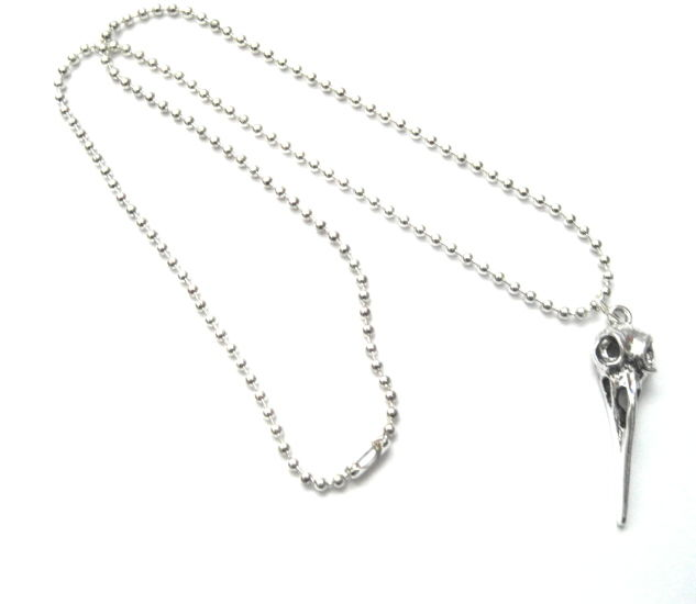 Raven Skull Gothic Necklace, Bird Skull Necklace - product images  of