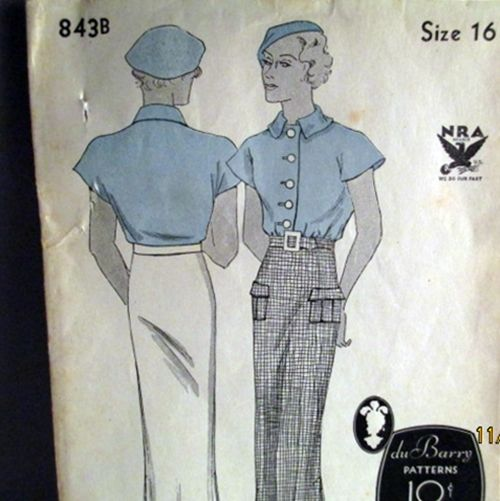 1930s vintage sewing patterns