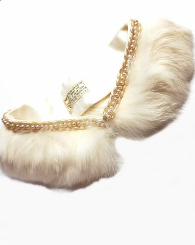 Vintage,1950s,White,Rabbit,Fur,Collar,with,Pearl,Trim,For,Sweater,Japan,vintage collar, 1950s collar, collar for sweater, vintage accessories, 1950s vintage rabbit collar, white collar, pearls, anothertimevintageapparel,  collar for 50s dress, fifties, vintage store, for sale