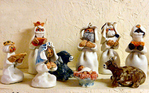 Crib,/,Nativity,Set,-,Abbeycrafts,crib, nativity, porcelain