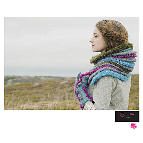 Ladies handmade cowl - Bouclee yarn - by Sharon Rose Designs - product images