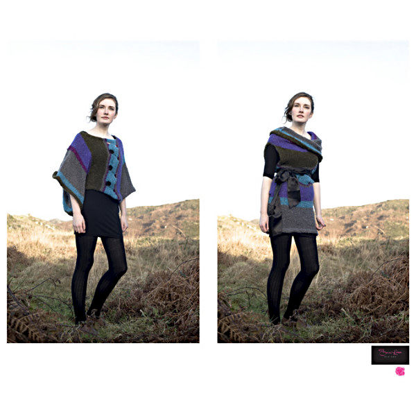 Ladies sideways top / dress - Bouclee yarn - by Sharon Rose Designs - product images