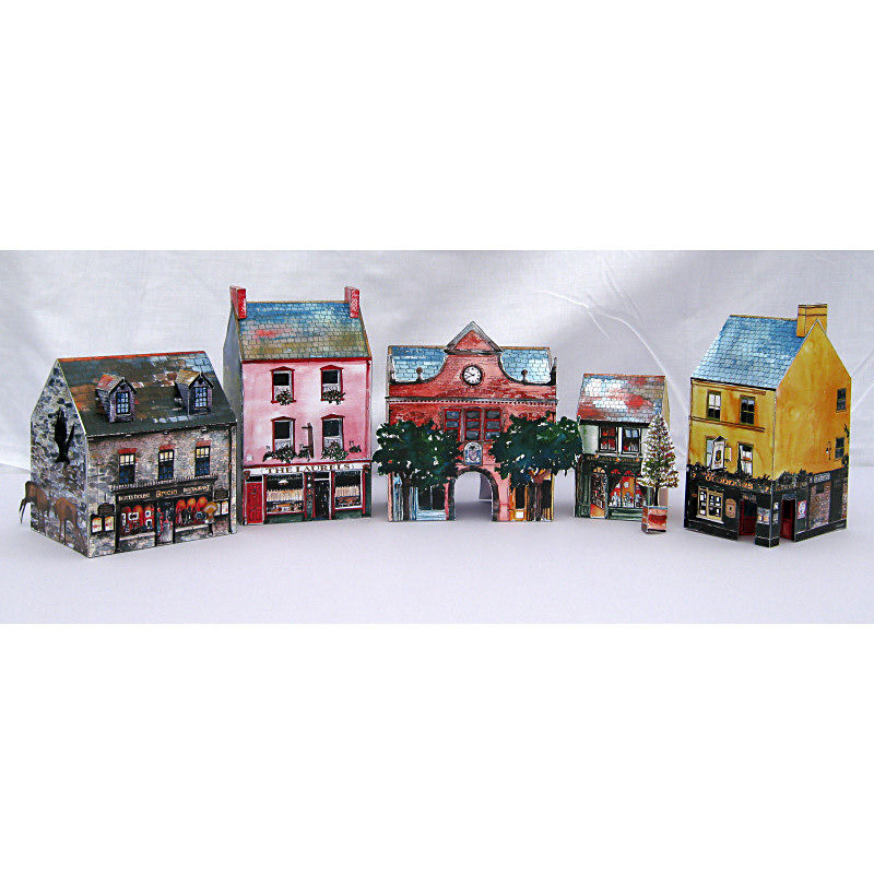 Tiny-Ireland-Killarney-street-A4-model-kit - product images  of