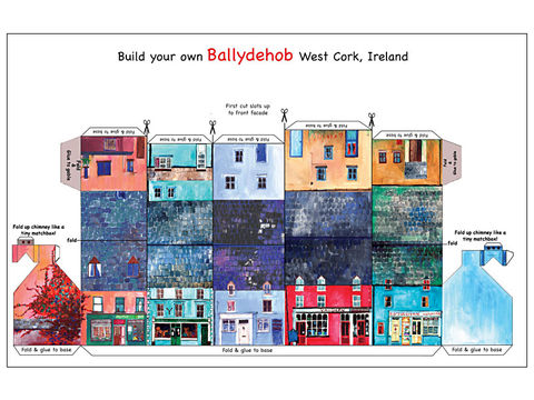 Tiny,Ireland,-,Tiny,,street,model,kit,cards,West,Cork,Tiny Ireland model steet kit card