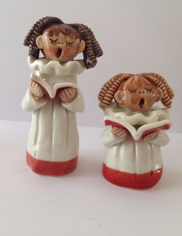 Choir,girl,figures,large,and,small,from,Abbey,Craft,Hand made porcelain choir girl figures