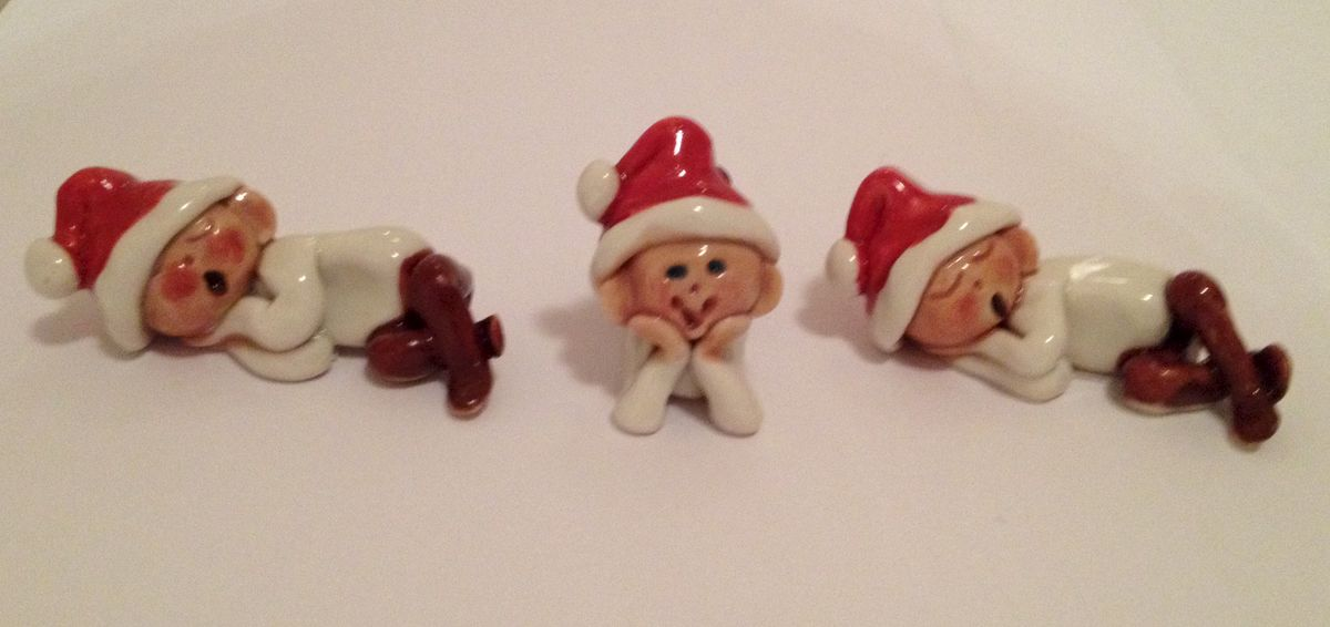 Santa's baby elves set of three - product image