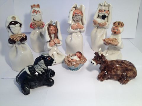 Crib/nativity,set,by,Abbey,Crafts,Abbey Craft nativity set
