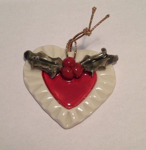 Porcelain,Christmas,Heart,Abbey Crafts porcelain heart