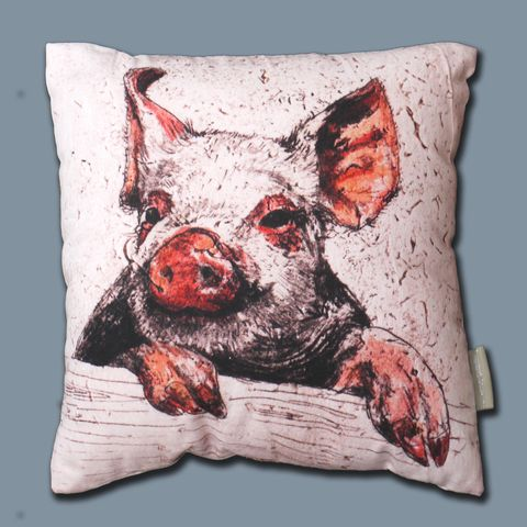 Farmyard,Range,-,Piggy,cushion,Piggy Cushion