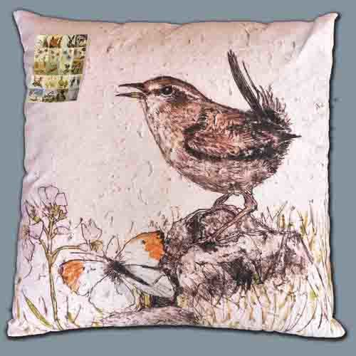 Wildlife Wren cushion - product image