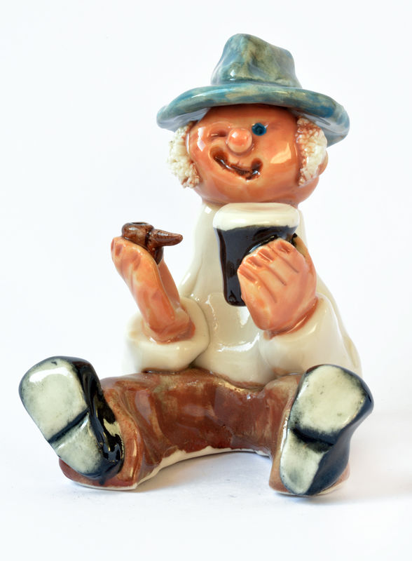 Little Man - pipe and glass - Abbeycrafts - product image