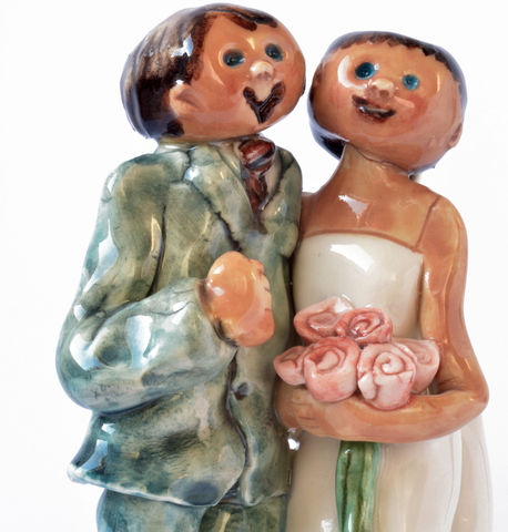 Bride,and,Groom,Porcelain bride & groom
