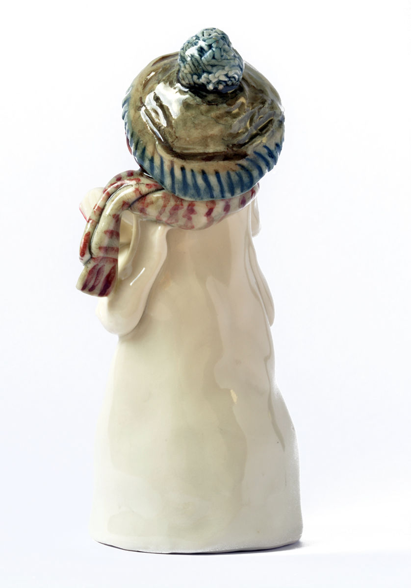 Tall Carol Singer, Boy in Blue Hat and Scarf - product image