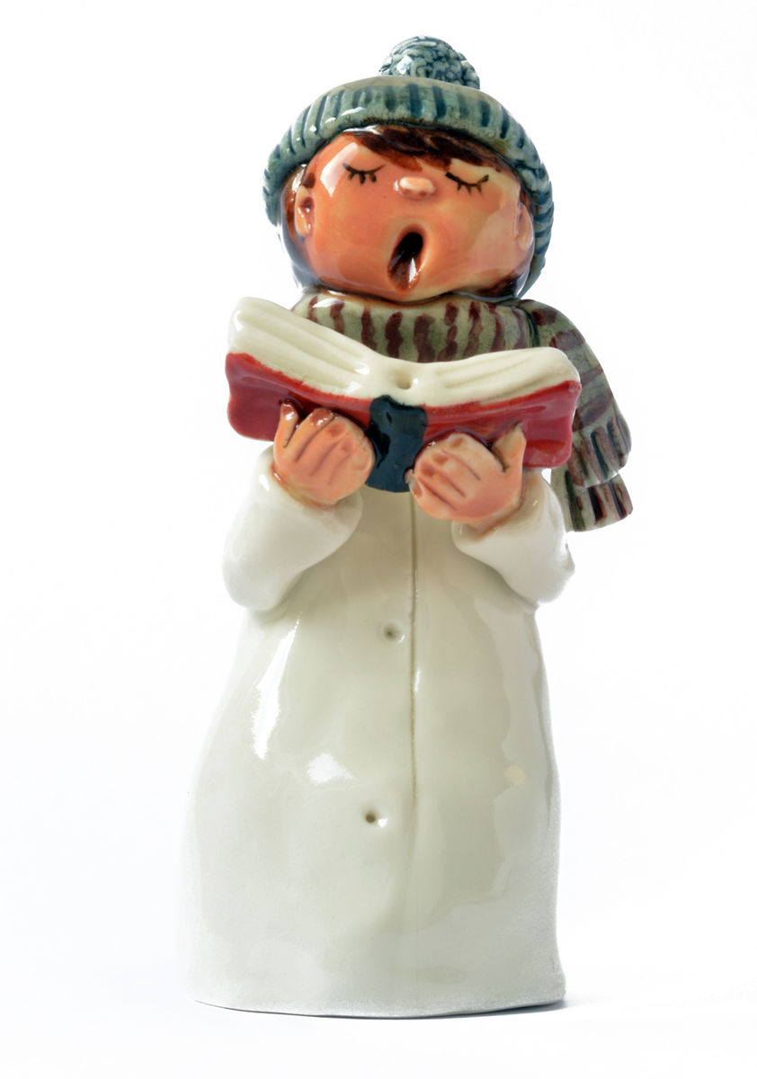Tall Carol Singer, Boy in Blue Hat and Scarf - product images  of