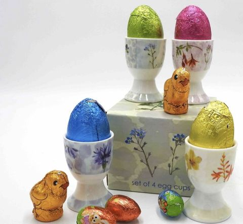 Wildflower,Egg,Cup,Set,of,4,Wild Flower Egg Cup gift set