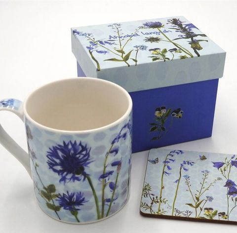 Wildflower,The,Purples,Mug,and,Coaster,Set,Wildflower The Purples Mug and Coaster set