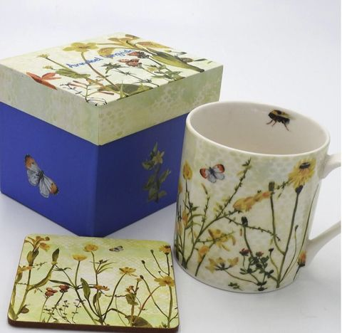 Wildflower,The,Yellows,Mug,and,Coaster,Set,Wildflower The Yellows Mug and Coaster Set