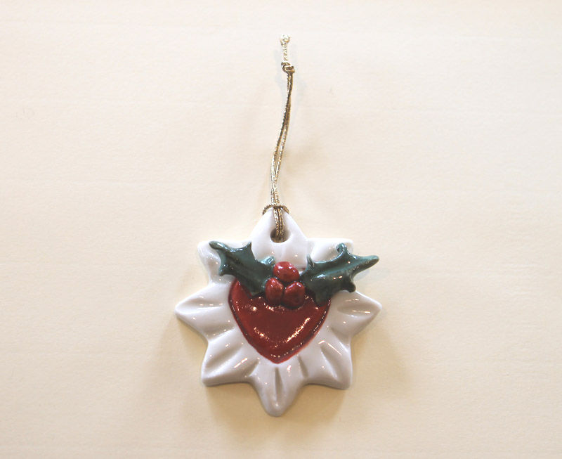 Christmas Tree Ornament - Holly Star- Abbeycrafts - product image