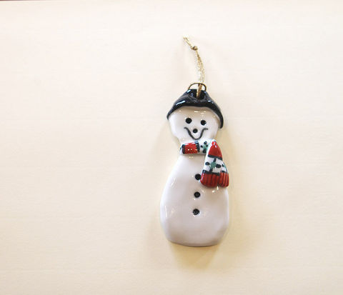 Christmas,Tree,Ornament,-,Snowman,Abbeycrafts,christmas tree ornament, Snowman , porcelain