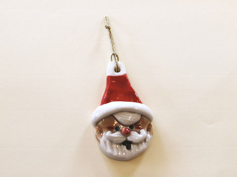 Christmas,Tree,Ornament,-,Santa-,Abbeycrafts,christmas tree ornament, Santa, porcelain