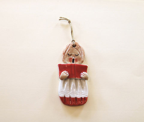 Christmas,Tree,Ornament,-,Choirgirl2,Abbeycrafts,christmas tree ornament, porcelain, choirgirl