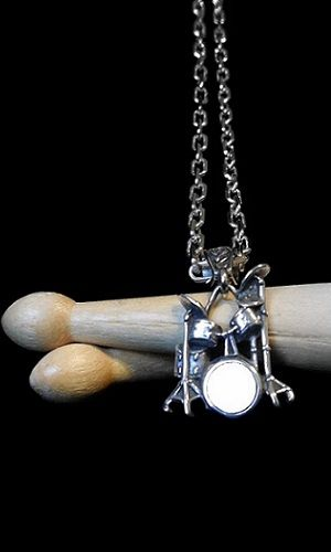 Drummer Drumset Necklace-Men's - product image