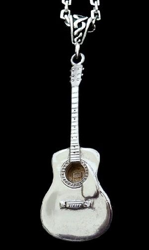 Guitar Necklace, Mens chain-Acoustic Guitar - product image