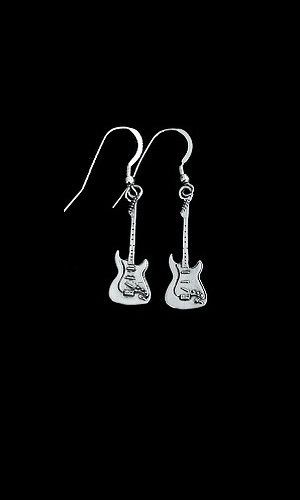 Guitar Earrings-sterling electric guitar - product images  of