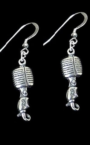 Microphone,Earrings-55,vintage microphone, 55 microphone