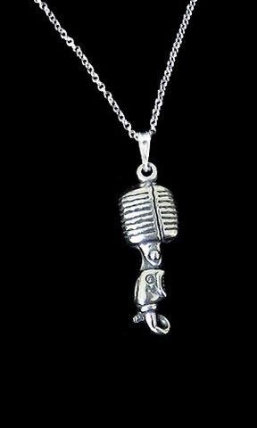 Microphone,Necklace,,Ladies,55,microphone necklace, microphone jewelry