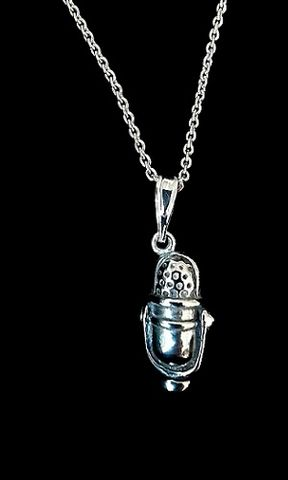 Microphone,Necklace,RCA77DX,microphone necklace, RCA77, deejay jewelry
