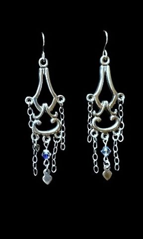 Chandelier,Earrings,chandelier, long earrings, sterling silver
