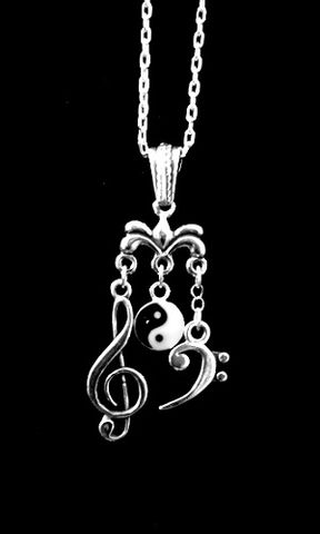 Harmony,Necklace,bass clef, music clef, harmony necklace