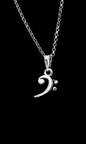 Bass,Clef,Necklace,bass clef, necklace, ladies, bass clef jewelry