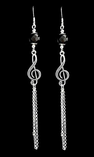 Long Chain Music Earrings - product images