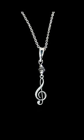 Ornate,Treble,Clef,Necklace,clef, music, necklace, jewelry, silver