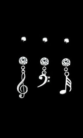 Music,Belly,Ring,Belly ring, music clef belly ring