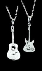 Guitar,Necklace-womans,designer,guitar,guitar necklace for women, sterling silver guitar jewelry