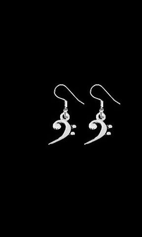 Bass,Clef,Earrings,bass clef earrings, bass clef jewelry