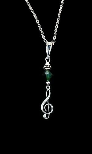 Emerald Crystal Music Necklace - product image