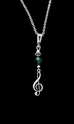 Emerald,Crystal,Music,Necklace,green emerald crystal music necklace