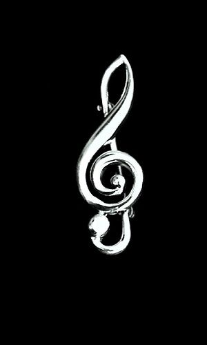 Treble Clef Music Pin - product image